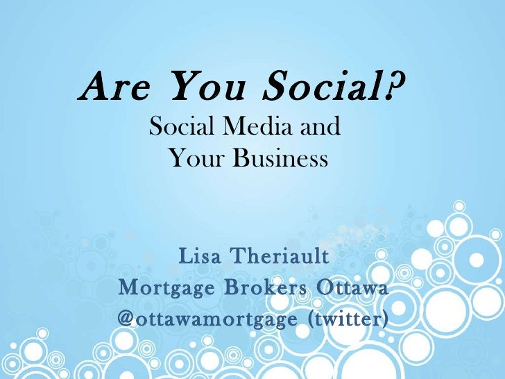 Are You Social?  Using Social Media in Your Mortgage Business