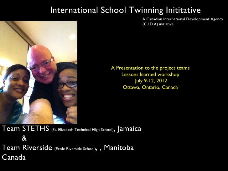 International School Twinning Inititative                                                             A Canadian Internati...