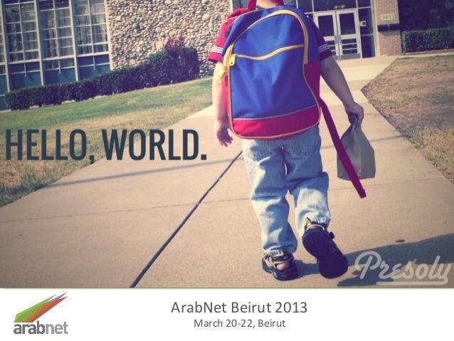 Presoly  startup pitch - arab net  beirut 2013