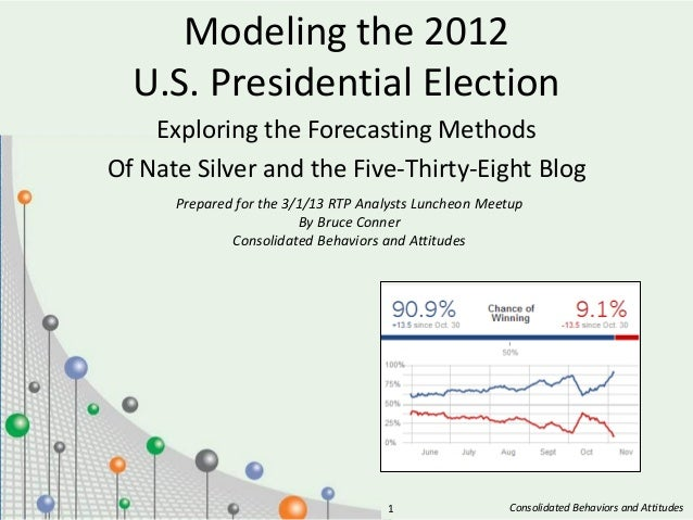 Modeling the 2012  U.S. Presidential Election    Exploring the Forecasting MethodsOf Nate Silver and the Five-Thirty-Eight...