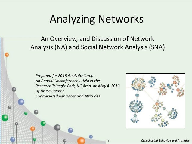 Consolidated Behaviors and Attitudes1Analyzing NetworksAn Overview, and Discussion of NetworkAnalysis (NA) and Social Netw...