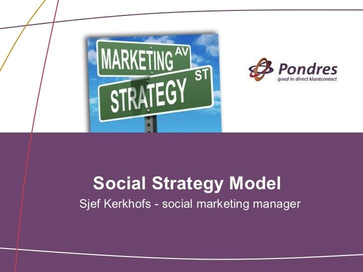 Social Strategy ModelSjef Kerkhofs - social marketing manager