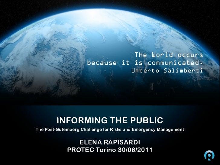 PROTEC - Informing the Public