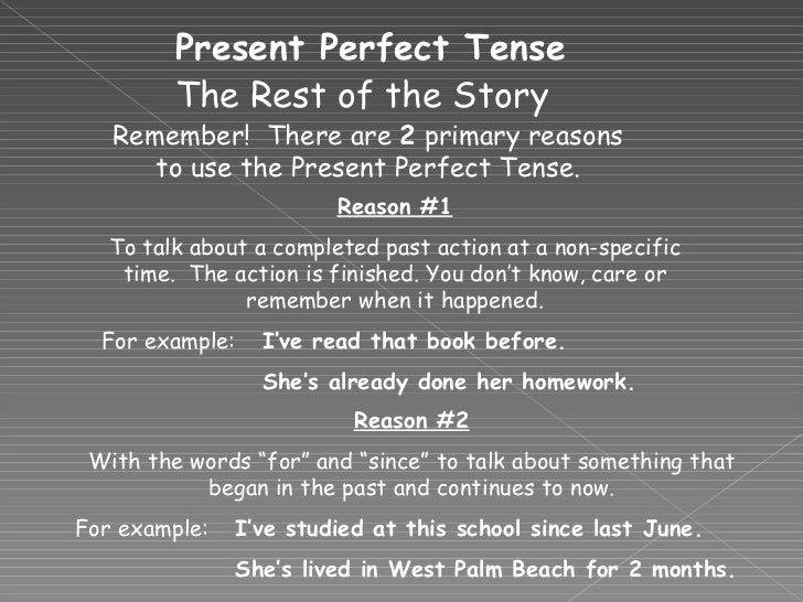 Present Perfec