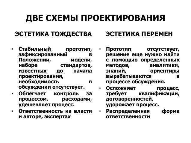 ДВЕ СХЕМЫ ПРОЕКТИРОВАНИЯ