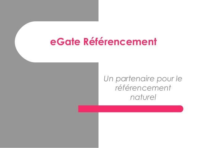 Presentation référencement