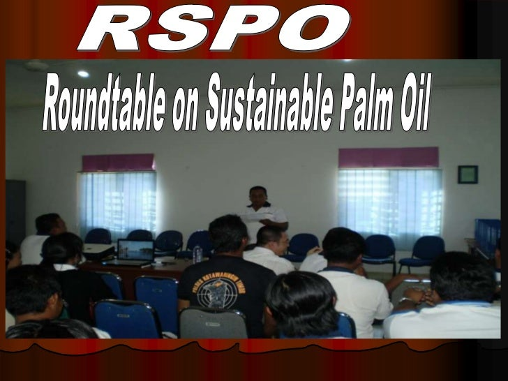 RSPO<br />Roundtable on Sustainable Palm Oil<br />