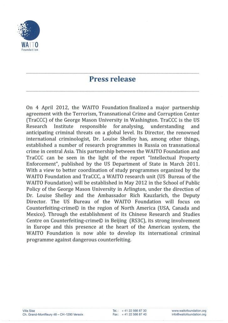 Press release USA April 2012