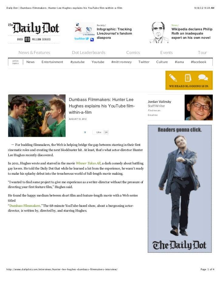 Press articles - Compilation - Dumbass Filmmakers!