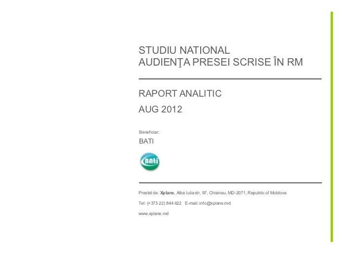 Press audience measurement 2012 (RO)