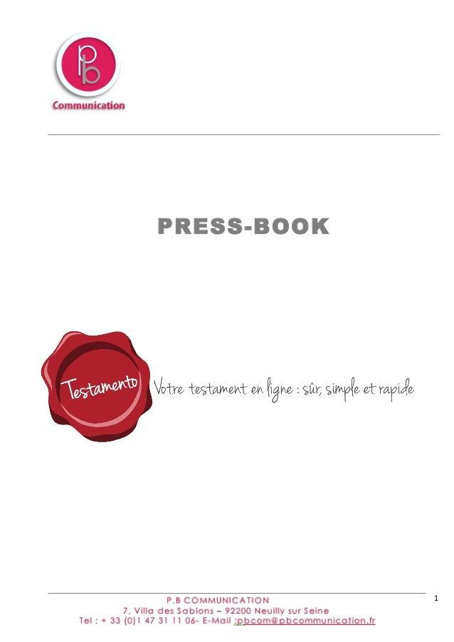 1            PRESS-BOOK
