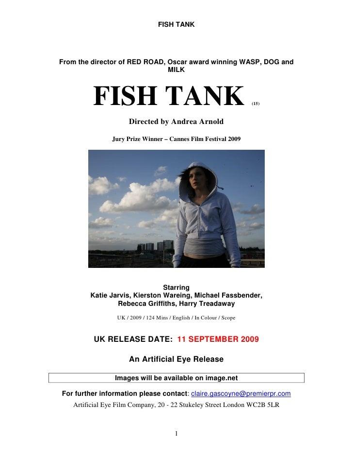 Pressbook fish tank