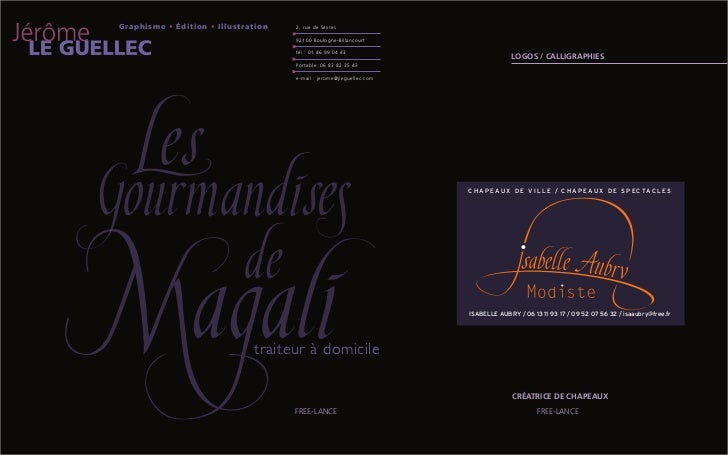 Graphisme • Édition • Illustration   2 , r u e d e S è v re s                                     92100 Boulogne-Billancou...