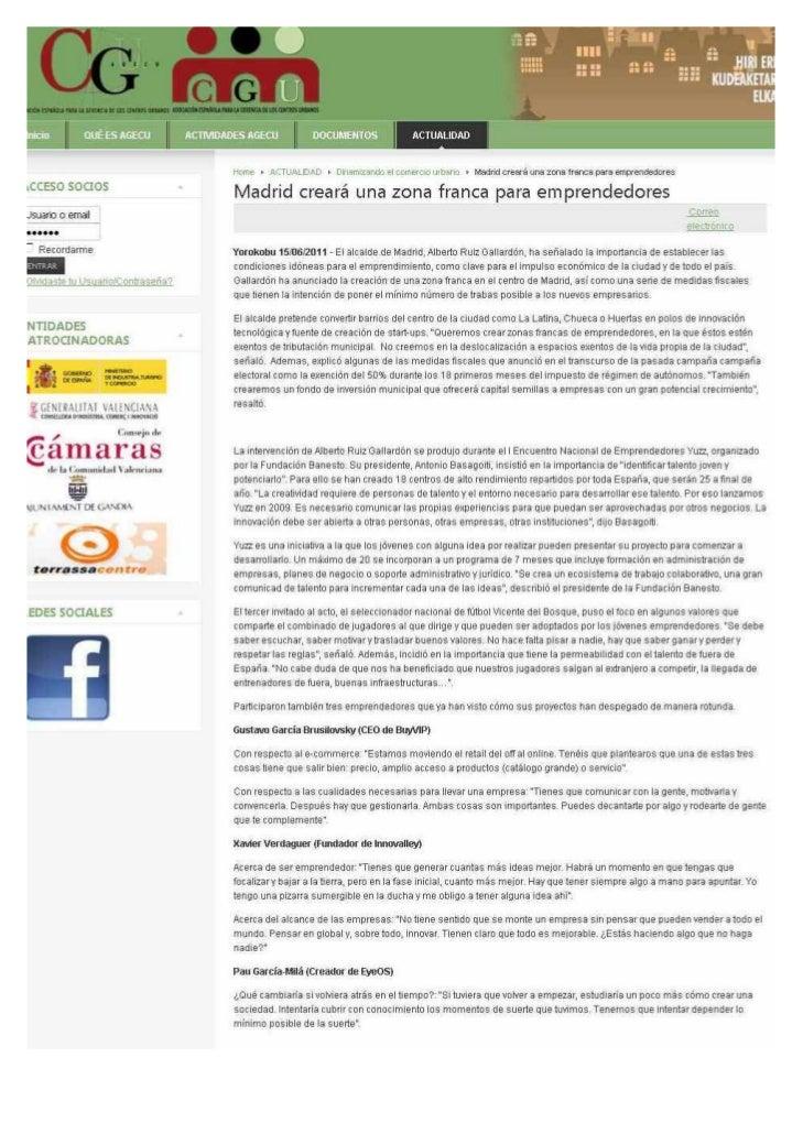 Impactos de prensa de la iniciativa Yuzz del mes de Junio 2011