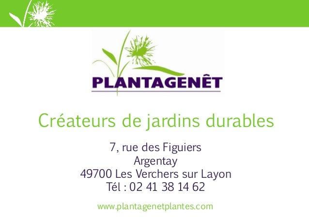 www.plantagenetplantes.comwww.plantagenetplantes.com Créateurs de jardins durables 7, rue des Figuiers Argentay 49700 Les ...