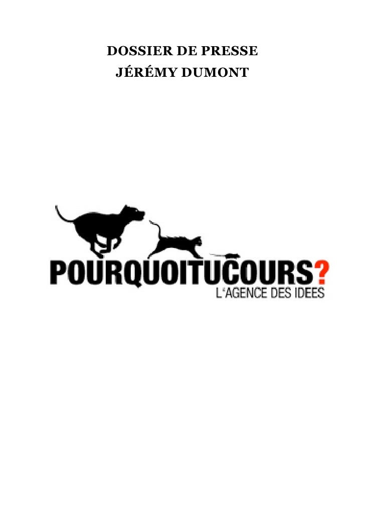 Pressbook Pourquoi Tu Cours Mars 2010 V2