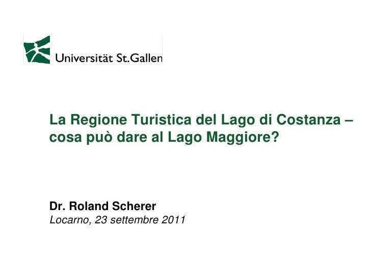 Forum Lago Maggiore 23.09.2011, Roland Scherer