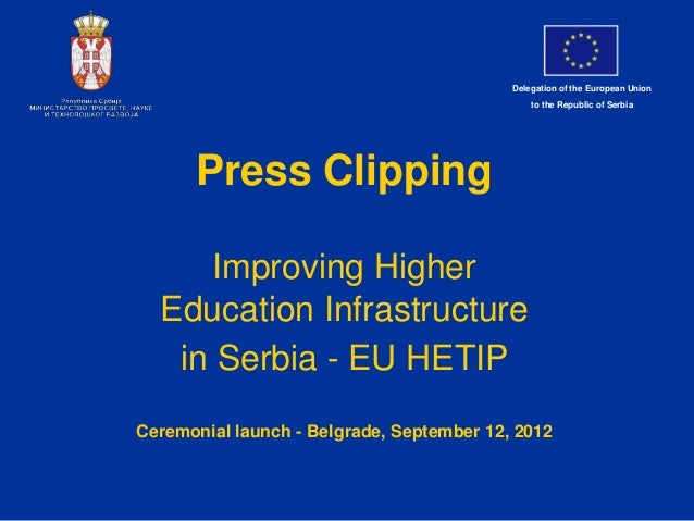 Delegation of the European Union                                               to the Republic of Serbia      Press Clippi...
