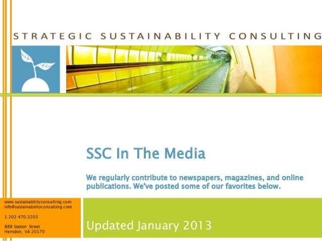 SSC In The MediaWe regularly contribute to newspapers, magazines, and onlinepublications. Weve posted some of our favorite...
