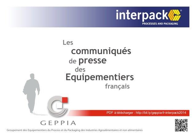 PDF à télécharger : http://bit.ly/geppia-fr-interpack2014