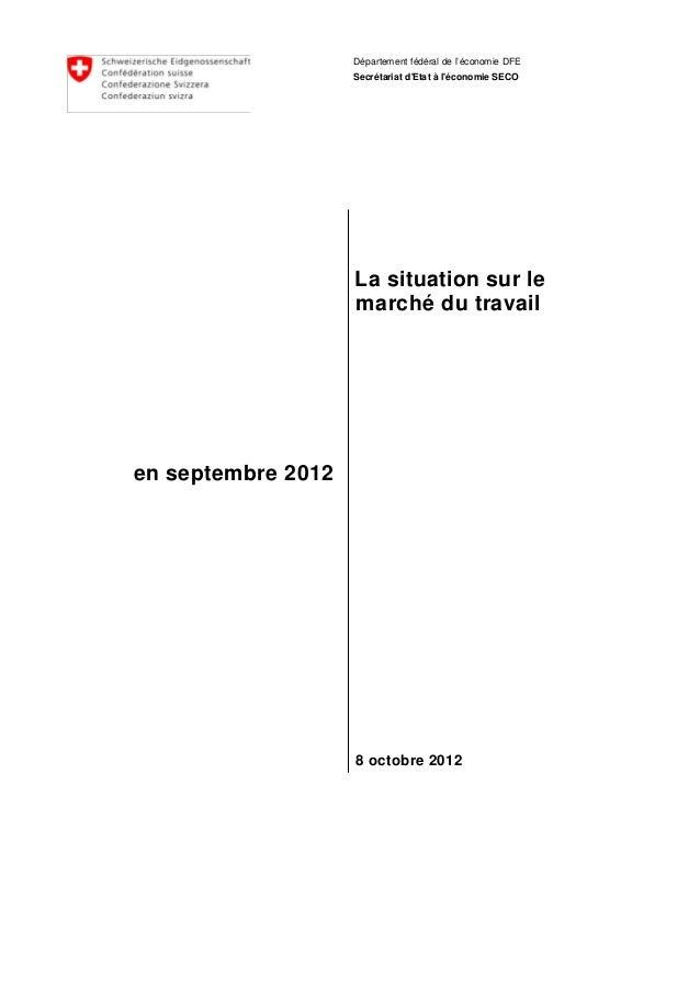 chômage septembre 2012
