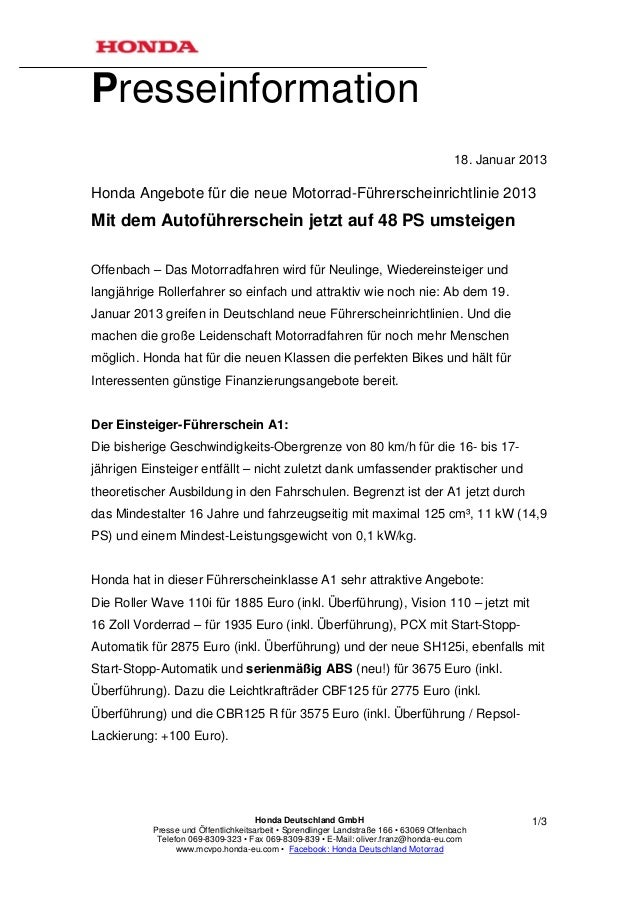 Presseinformation                                                                                      18. Januar 2013Hond...