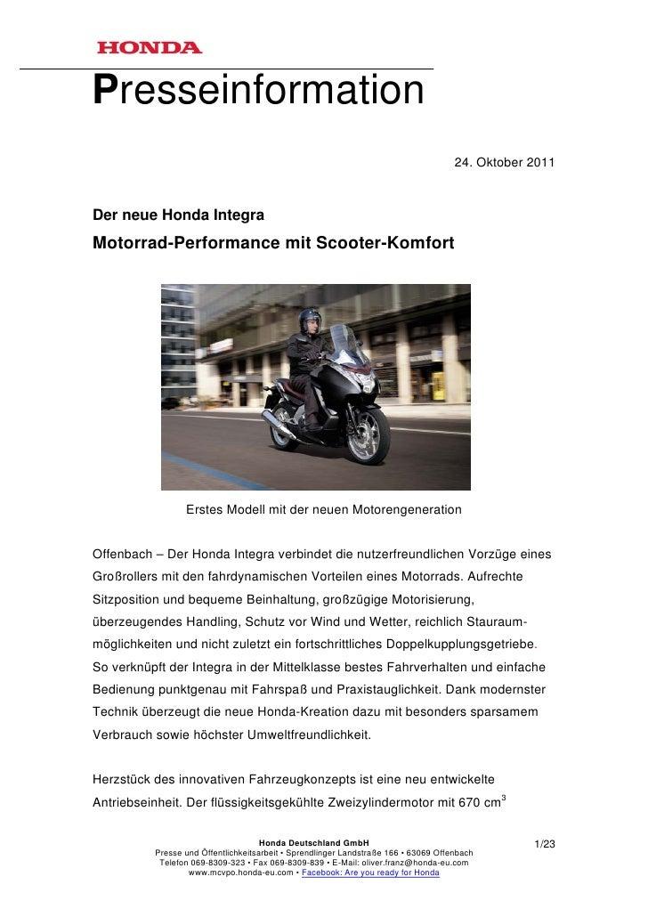 Presseinformation                                                                                     24. Oktober 2011Der ...