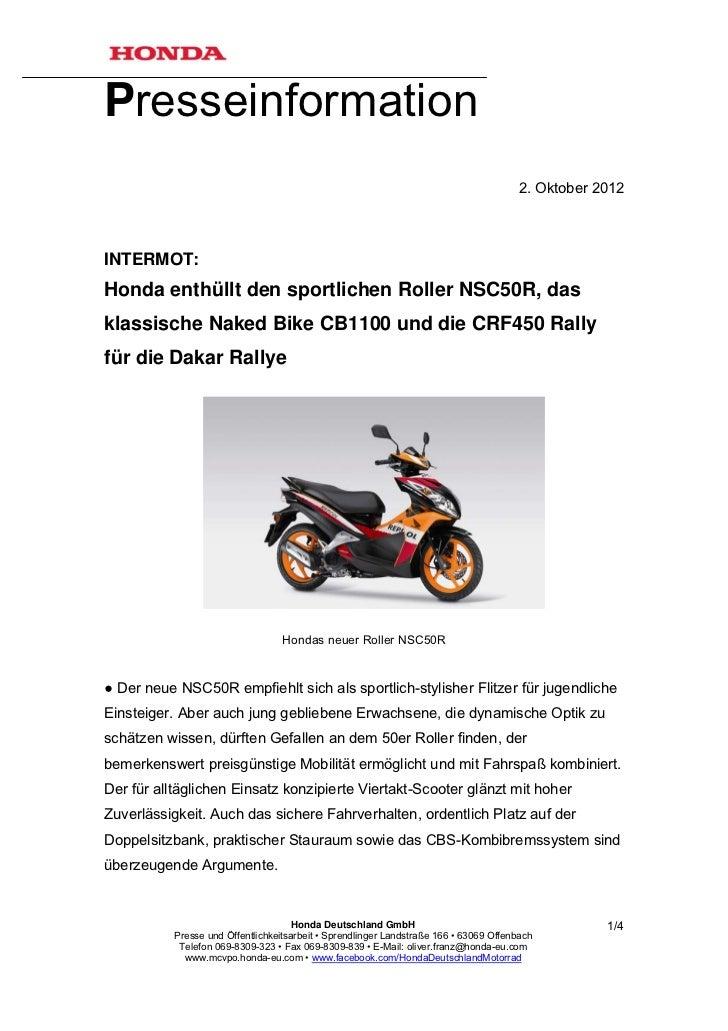 Presseinformation                                                                                        2. Oktober 2012IN...