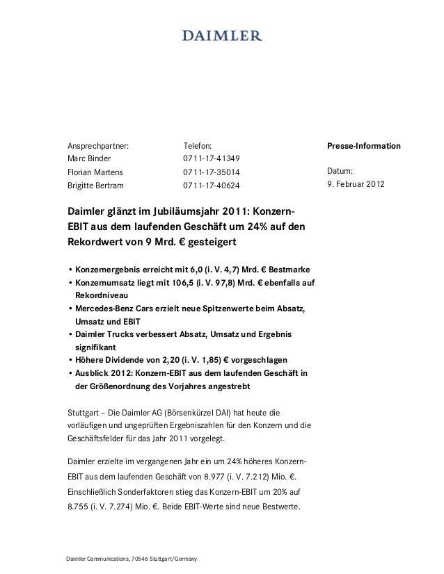 Daimler Communications, 70546 Stuttgart/Germany Ansprechpartner: Telefon: Marc Binder 0711-17-41349 Florian Martens 0711-1...
