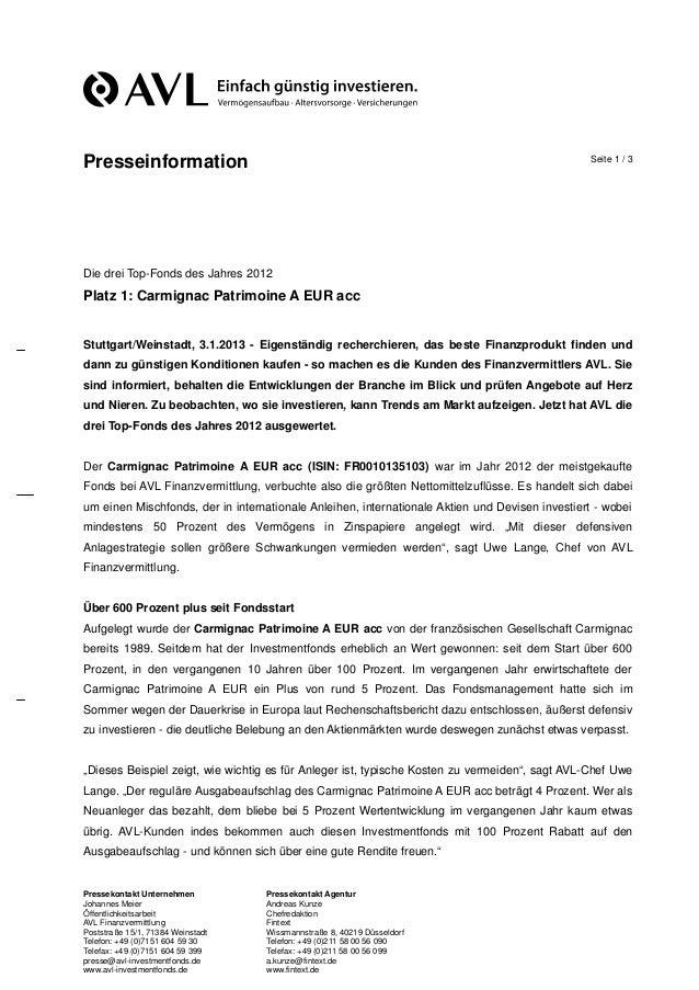 Presseinformation                                                                                Seite 1 / 3Die drei Top-F...