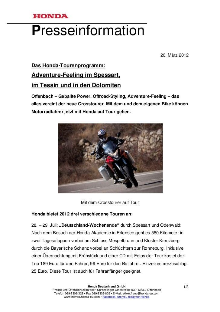 Presseinformation                                                                                         26. März 2012Das...
