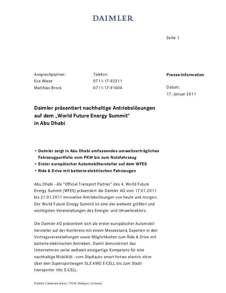 Seite 1Ansprechpartner:                         Telefon:                    Presse-InformationEva Wiese                   ...