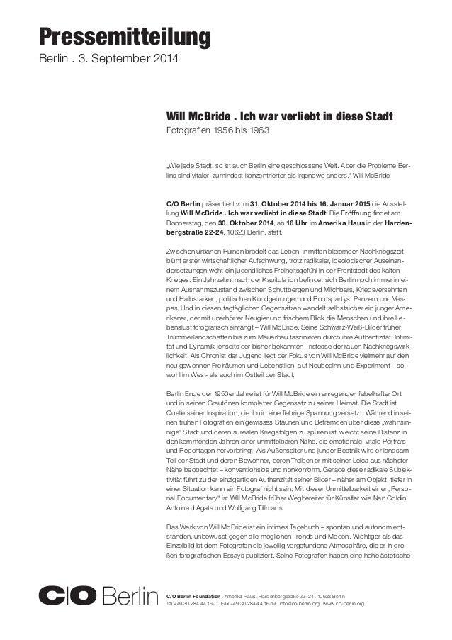 C/O Berlin Foundation . Amerika Haus . Hardenbergstraße 22–24 . 10623 Berlin  Tel +49.30.284 44 16-0 . Fax +49.30.284 44 1...
