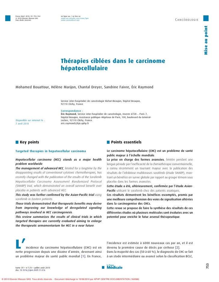 Presse Med. 2010; 39: 753–764            en ligne sur / on line on            ß 2010 Elsevier Masson SAS.              www...