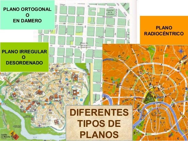 Morfología urbana Tipos de planos ciudades