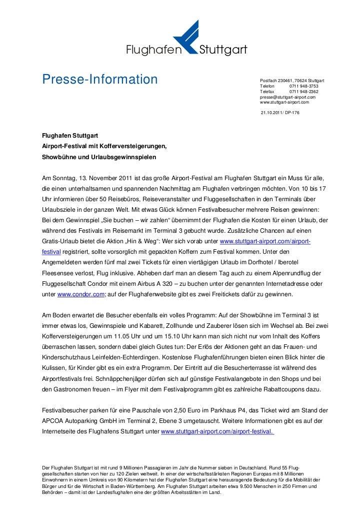 Flughafen                        StuttgartPresse-Information                                                              ...
