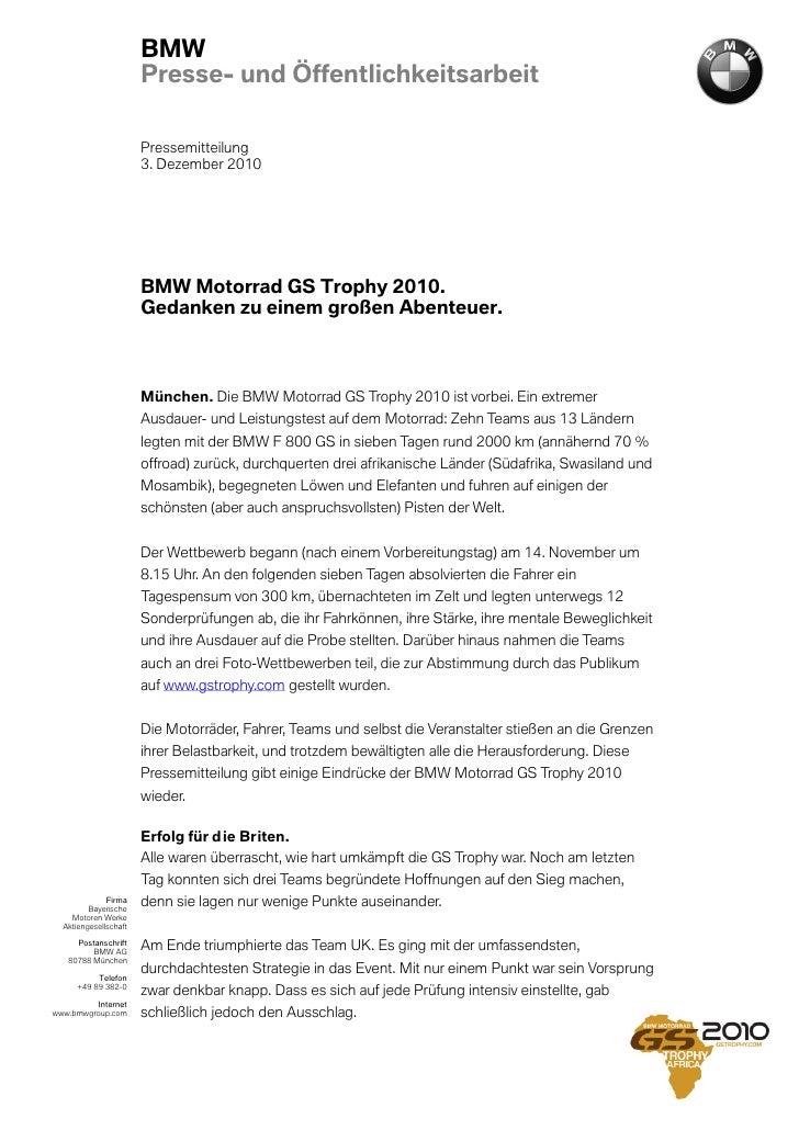 BMW                       Presse- und Öffentlichkeitsarbeit                       Pressemitteilung                       3...