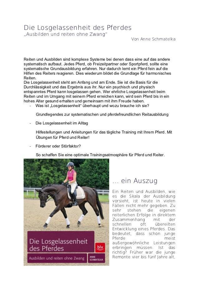 """Die Losgelassenheit des Pferdes""""Ausbilden und reiten ohne Zwang""""                                                          ..."""