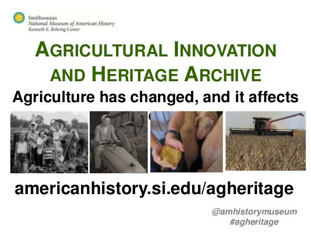 Introducing the Agricultural Innovation and Heritage Archive
