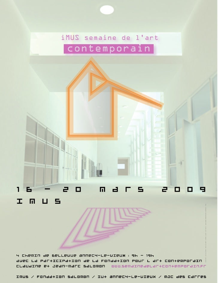 Sommaire             «   iMUS semaine de l'art contemporain»                          Du 16 au 20 mars 2009               ...