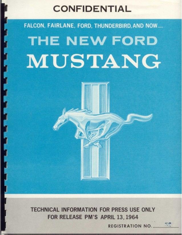 Kit de Prensa Ford Mustang 1964