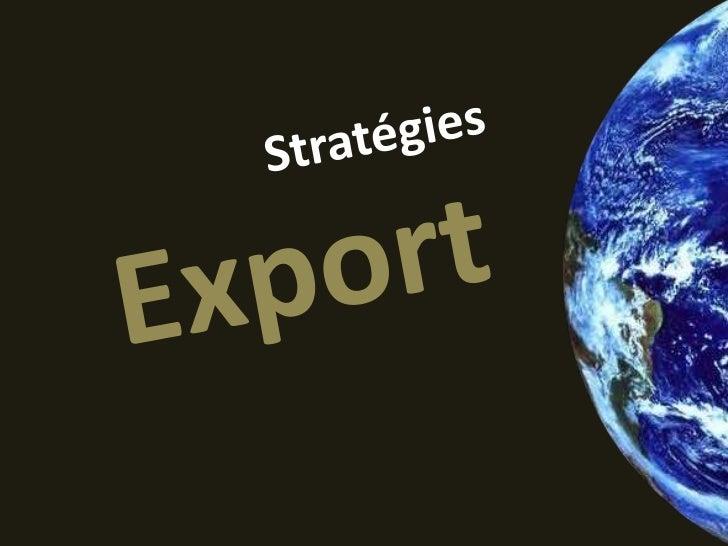 NULLELa France est zéroà l'export