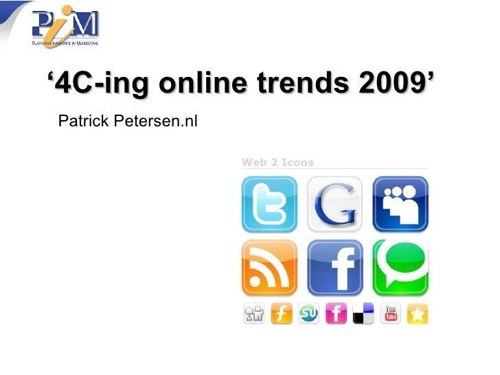 PIM presentation about online marketing 4C-model of success