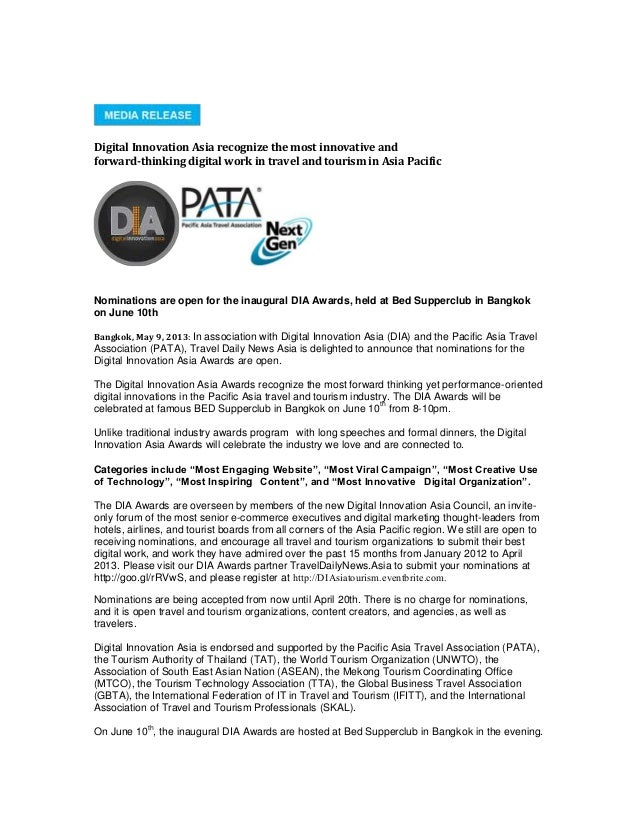 Digital Innovation Asia recognize the most innovative andforward-thinking digital work in travel and tourism in Asia Pacif...