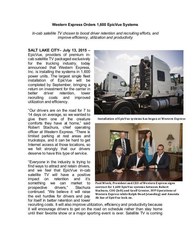Express press release