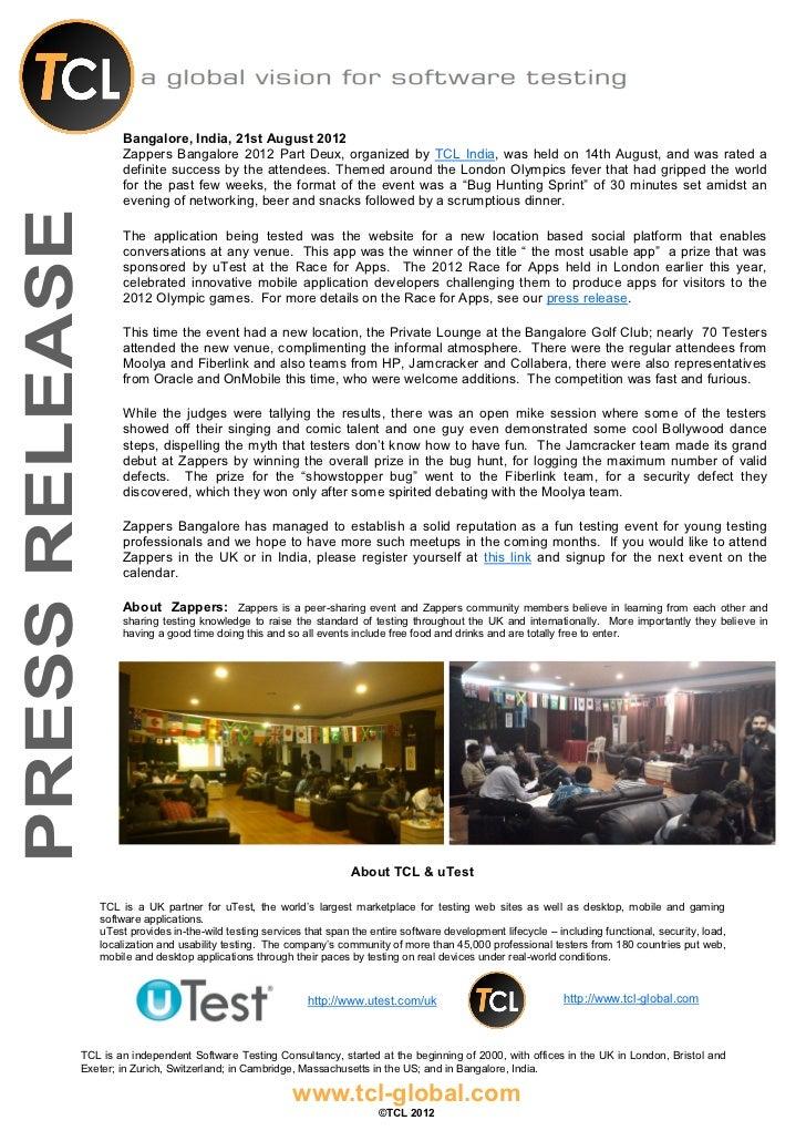 Press release   zappers india aug 14 2012 v 1.00 vs 210812