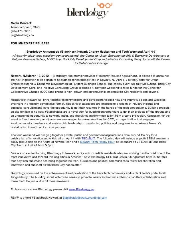 Media Contact:Amanda Spann, CMO(904)476-8003pr@blerdology.coFOR IMMEDIATE RELEASE:          Blerdology Announces #BlackHac...