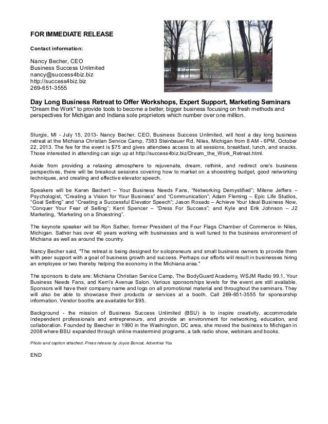 Press release bsu