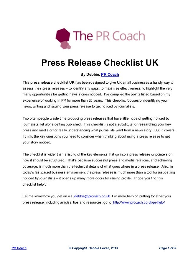 Example of a press release. How to write a press release