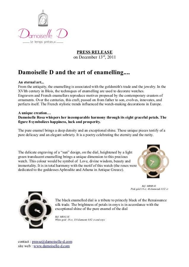 Press release enamelling UNIQUE PIECE ROSA